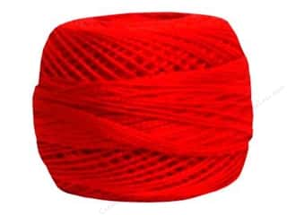 DMC Pearl Cotton Ball Size 8 #666 Bright Red (10 balls)