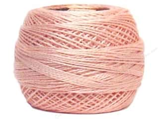 Yarn & Needlework DMC Pearl Cotton Balls Size 8: DMC Pearl Cotton Ball Size 8 #225 Pale Shell Pink (10 balls)