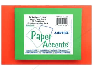 Paper Accents Card & Env 4.25x5.5 50pc Christmas