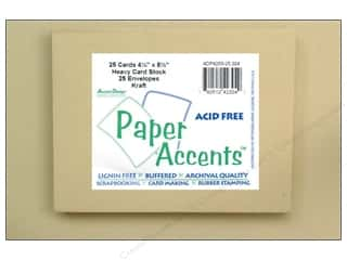 Paper Accents Card&Env 4.25x5.5 RecycledKraft 25pc