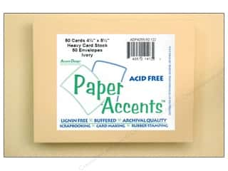 Paper Accents Card & Env 4.25x5.5 50pc Ivory