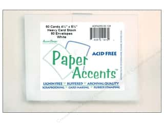Paper Accents Card & Env 4.25x5.5 50pc White