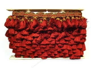 "Clearance Buttons Galore Trims & Treasures: Conso Alexander Tassel Fringe 3 3/4"" Peony (12 yards)"