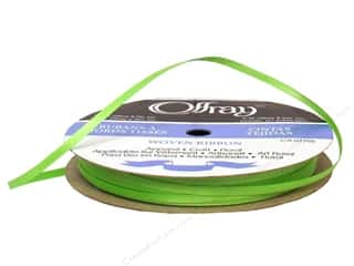 Offray Ribbon Doubleface Satin 1/8 in. 30 yd Apple Green (30 yards)