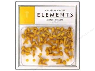 color brads: American Crafts Elements Brads 5 mm Mini 48 pc. Dandelion