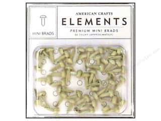 color brads: American Crafts Elements Brads Mini Vanilla 50pc