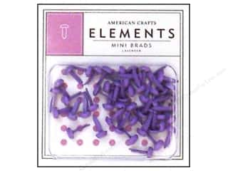 American Crafts Elements Brads Mini Lavender 50pc