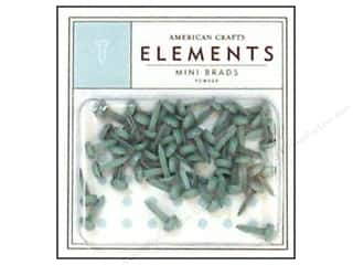 color brads: American Crafts Elements Brads Mini Powder 50pc