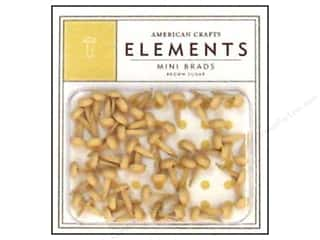 American Crafts Elements Brads Mini Brown Sugar