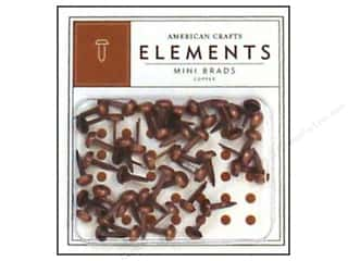 color brads: American Crafts Elements Brads Mini Copper 48pc