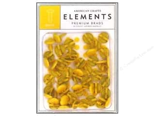 color brads: American Crafts Elements Brads Med Dandelion 50pc