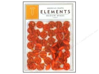 American Crafts Elements Brads Med Carrot 50pc