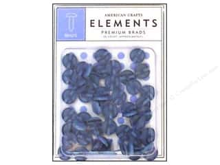 American Crafts Elements Brads Med Ocean 50pc