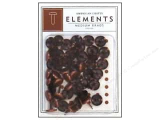 American Crafts Elements Brads Med Copper 48pc