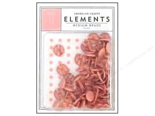 American Crafts Elements Brads Medium Blush 50pc