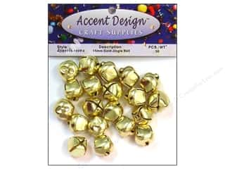 Accent Design Jingle Bell Value Pk 15mm 30pc Gold