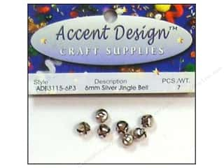 Accent Design Jingle Bell 6mm 7pc Silver (3 packages)