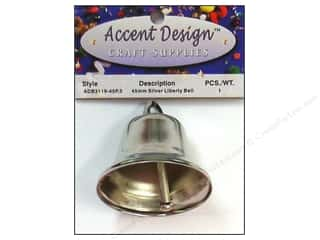 Wedding Kids Crafts: Accent Design Liberty Bell 45 mm 1 pc Silver (3 packages)