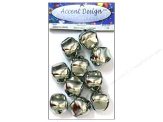 Accent Design Jingle Bell Value Pk 30mm 10pc Slvr