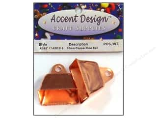 Accent Design Cow Bell 32 mm 2 pc Copper (3 packages)