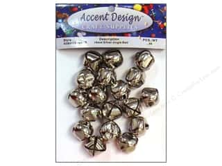 Accent Design-Basics: Jingle Bells 3/4 in. 26 pc. Silver