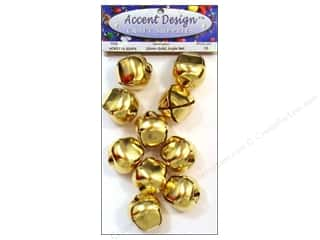 Accent Design Jingle Bell Value Pk 30mm 10pc Gold