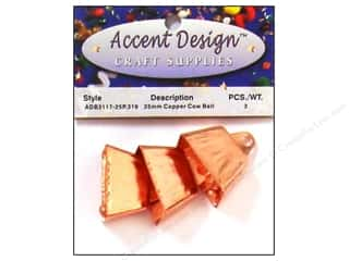 Accent Design Cow Bell 25 mm 3 pc Copper