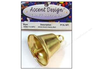 Wedding Kids Crafts: Accent Design Liberty Bell 45 mm 1 pc Gold (3 packages)