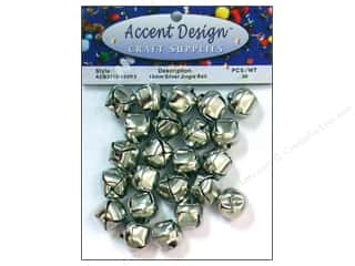 Accent Design-Basics: Jingle Bells 5/8 in. 30 pc. Silver