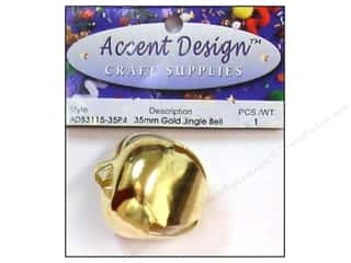 Jingle Bells 1 3/8 in. 1 pc. Gold (3 packages)