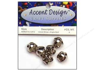 Bells $1 - $2: Jingle Bells by Accent Design 1/2 in. 6 pc. Silver (3 packages)