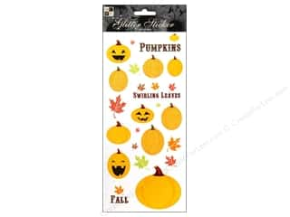 3-D Stickers / Fuzzy Stickers / Foam Stickers: DieCuts Sticker Glitter Pumpkins