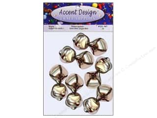 Accent Design-Basics: Jingle Bells 1 in. 12 pc. Silver