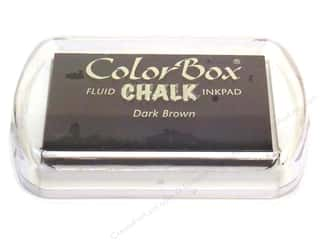 Clearance ColorBox Fluid Chalk Mini Ink Pad: ColorBox Fluid Chalk Ink Pad Full Size Dark Brown
