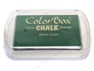 Clearance ColorBox Fluid Chalk Mini Ink Pad: ColorBox Fluid Chalk Ink Pad Full Size Warm Green