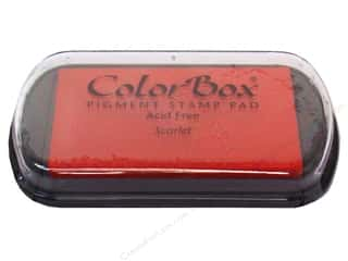 ColorBox 2 7/8 in: ColorBox Pigment Inkpad Full Size Scarlet