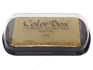 Rubber Stamping ColorBox Full Size Pigment Ink Pads: ColorBox Pigment Inkpad Full Size Metallic Gold