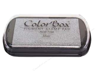 ColorBox 2 7/8 in: ColorBox Pigment Inkpad Full Size Metallic Silver