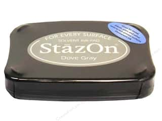 Tsukineko StazOn Solvent Stamp Pad Lg Dove Grey