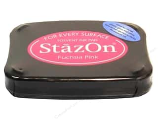 Tsukineko StazOn Solvent Stamp Pad Lg Fuchsa Pnk