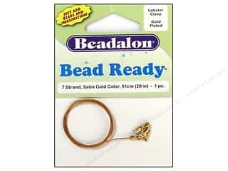 Clearance Blumenthal Favorite Findings: Beadalon 7 Strand Wire Lobster Clasp 20 in. Gold