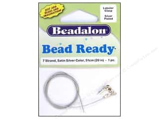 Clearance Blumenthal Favorite Findings: Beadalon 7 Strand Wire Lobster Clasp 20 in. Silver