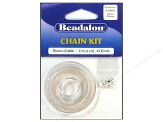Chains: Beadalon Chain Kit 0.9mm Round Cable Silver