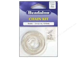 Beadalon Chain Kit 1.5mm Snake Silver
