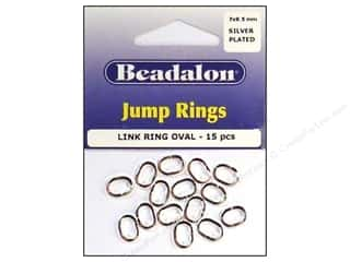 Beadalon Jump Rings/Spring Rings: Beadalon Jump Rings Oval Link 7 x 9.5 mm Silver 15 pc.