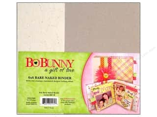 "Bo Bunny Binder Bare Naked Chipboard 6""x 6"""