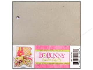 Blank Card & Envelopes: Bo Bunny Bare Naked Binder 6 x 6 in. Refills 6 pc.