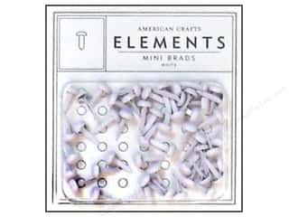 American Crafts Elements Brads 5 mm Mini 48 pc. White