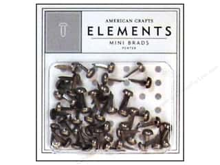 brads mini: American Crafts Elements Brads 5 mm Mini 48 pc. Pewter