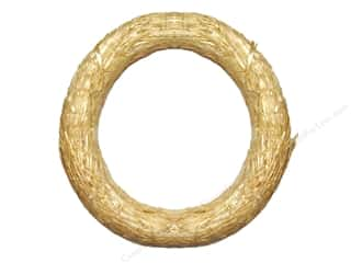 Fall / Thanksgiving Floral & Garden: FloraCraft Straw Wreath 18 in. Clear Wrap